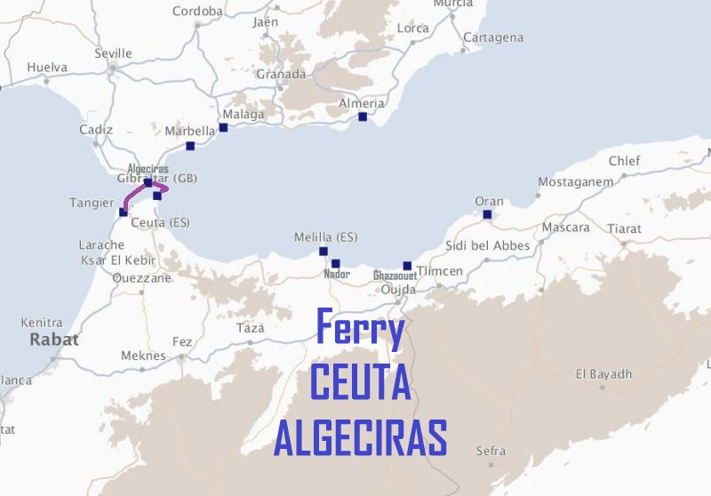 ferry ceuta algeciras avec trasmediterranea. Black Bedroom Furniture Sets. Home Design Ideas