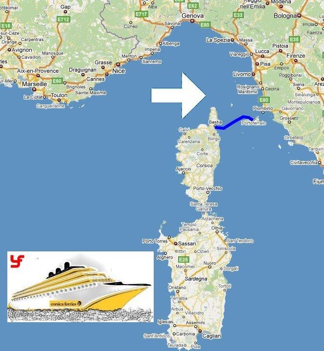 billet de bateau pour une travers e bastia portoferraio avec corsica ferries. Black Bedroom Furniture Sets. Home Design Ideas